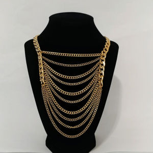 Gold Tone Cascading Necklace
